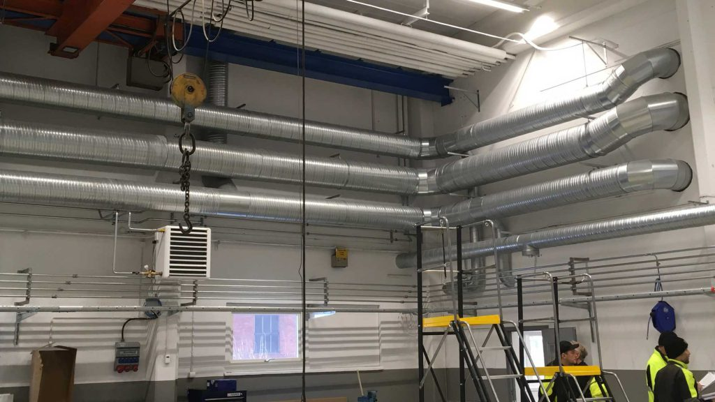 Tidigare utfört arbete av FLT, där service av ventilation samt energibesparing ingår.